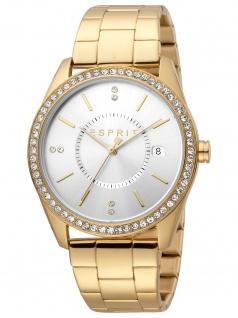 Esprit ES1L196M0065 Carlin Gold Silver Uhr Damenuhr Datum gold