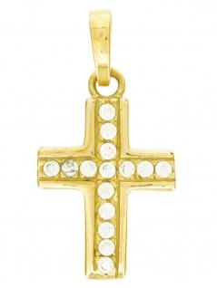 Gerry Eder 27.0006 Anhänger Kreuz 14 Karat (585) Gelbgold Gold Weiß