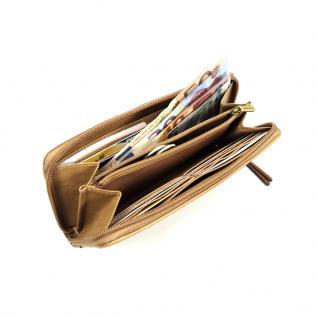 Esprit Geldbörse Paula Casual Zip Braun Damen Geldbeutel Geld Börse - Vorschau 3