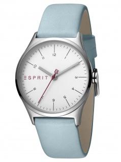Esprit ES1L034L0015 Essential Silver Blue - L Damenuhr Lederarmband