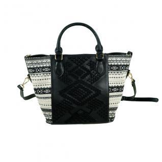 Desigual Bols Florida Lila Schwarz 17WAXPDH-2000 Handtasche Tasche