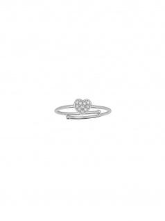 XENOX XS1633 Damen Ring Herz Glamour Girl Silber Weiß