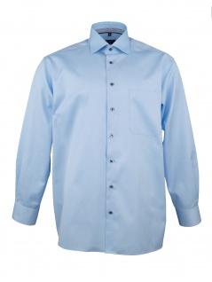 Eterna Herren Hemd Langarm Comfort Fit XXL/45 Blau 8817/10/E95K