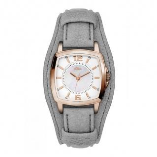 s.Oliver SO-3237-LQ Uhr Damenuhr Lederarmband Grau