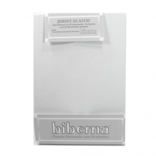 Biberna 77866-019 Jersey Elastic Spannbetttuch Hellgrau 90x190 100x220