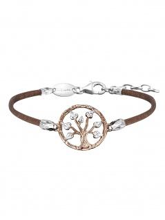 Julie Julsen JJBR0257.4 Damen Armband Baum Bicolor Rose Braun 19 cm