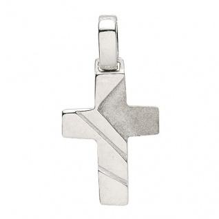 Basic Silber 27.9152S Damen Anhänger Kreuz Silber