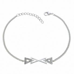 GOOIX 914-06385 Damen Armband Sterling-Silber 925 Silber Weiß 20 cm