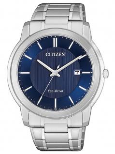 Citizen AW1211-80L Eco Drive Uhr Herrenuhr Edelstahl Datum Silber