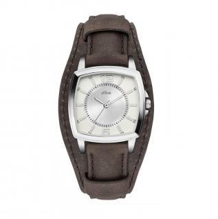 s.Oliver SO-3167-LQ Uhr Damenuhr Lederarmband Braun