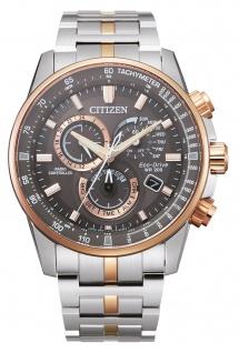 Citizen CB5886-58H Eco Drive Uhr Herrenuhr Chrono Datum bicolor