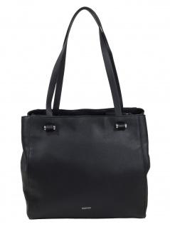 Esprit Damen Handtasche Tasche Schultertasche Alison Shopper Schwarz