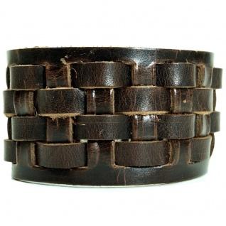 CJBB1951 Herren Armband Leder braun 20, 5 cm