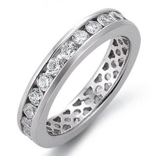 GOOIX 943-3140 Damen Ring Silber Zirkonia Weiß 50 (15.9)