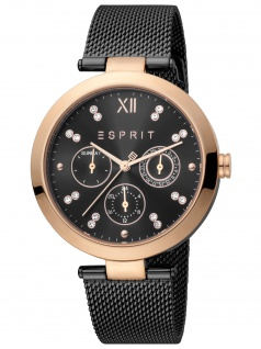 Esprit ES1L213M0085 Florine Black Rosegold Uhr Damenuhr Datum schwarz