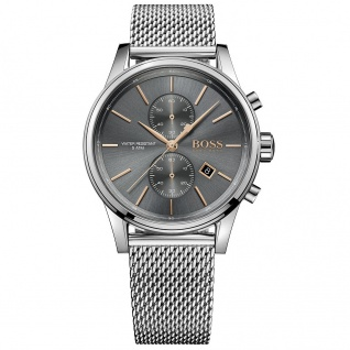 Hugo Boss 1513440 Jet Chronograph Uhr Herrenuhr Chrono Datum silber