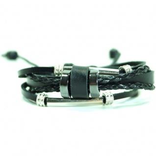 CJBB5409 Damen Armband Surfer Leder schwarz