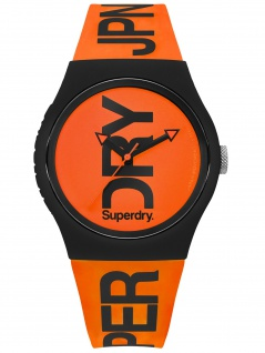Superdry SYG189OB Urban Brand Fluoro Uhr Herrenuhr Silikon Orange