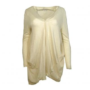 Vero Moda Damen Jersey Jacke ANNIKA L/S Long Cardigan Beige Gr. M