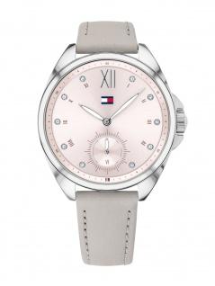 Tommy Hilfiger 1781990 AVA Uhr Damenuhr Lederarmband Grau