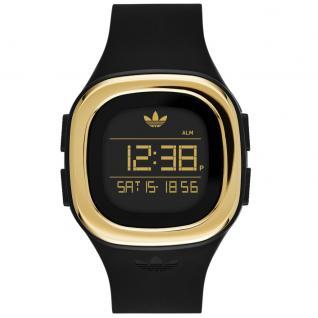 Adidas DENVER Uhr Damenuhr Kautschuk Digital schwarz gold