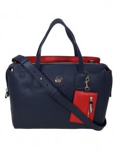 Tommy Hilfiger Damen Handtasche Tasche Charming Tommy Satchel Blau