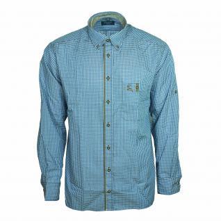 Eterna Herrenhemd Langarm Comfort Fit Blau Weiß kariert Gr. XL/44 - Vorschau 1