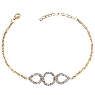 GOOIX 914-06381 Damen Armband Sterling-Silber 925 Gold Weiß 20 cm