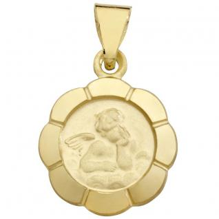 Basic Gold EN35 Kinder Anhänger Schutzengel 14 Karat (585) Gelbgold