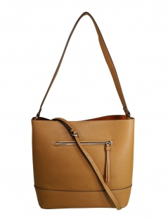 Esprit Damen Handtasche Tasche Henkeltasche Kerry Hobo Braun
