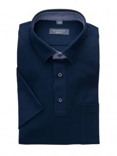 Eterna Herren Polo Shirt Kurzarm Comfort Fit Piqué Blau XXXL/48