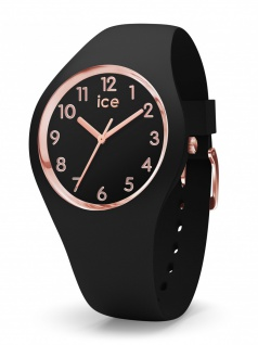Ice-Watch 015340 ICE glam colour black rose gold numbers m Uhr Schwarz