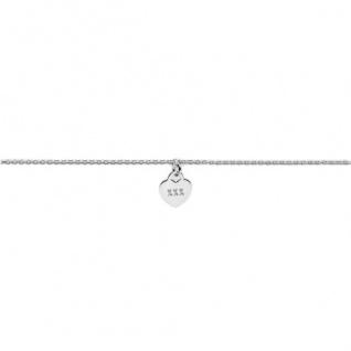 heart to get B278LOH16S Damen Armband Herz Silber 18 cm