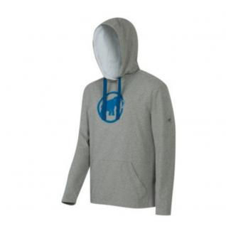 Mammut Herren Pullover Sweater Kapuze Mammut Logo ML Hoody Grau Gr. S