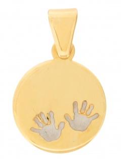 Gerry Eder 22.0094 Anhänger Taufanhänger 14 Karat (585) Bicolor Gold