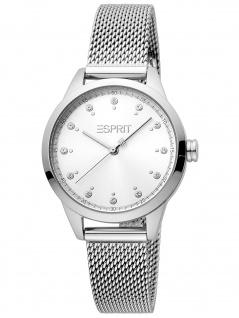 Esprit ES1L259M1065 Pointy Silver Mesh Uhr Damenuhr Edelstahl silber