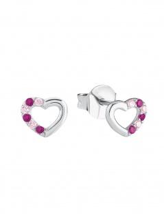 Prinzessin Lillifee 2024375 Mädchen Ohrstecker Herz Silber Rosa