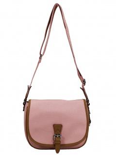 Esprit Damen Handtasche Tasche Schultertasche Susie T Canvas Rosa