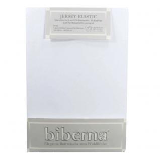 Biberna 77866-001 Jersey Elastic Spannbetttuch Weiß 180x200 200x220