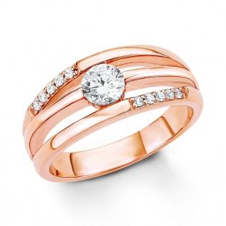 s.Oliver 9033003 Damen Ring Sterling-Silber 925 Rose Weiß 56 (17.8)