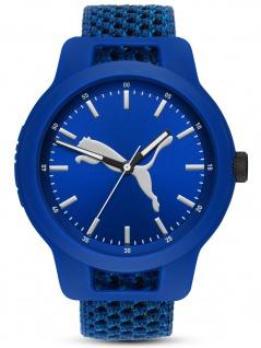 PUMA P5057 Uhr Herrenuhr Stoffband blau