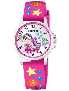 Calypso K5782/3 Meerjungfrau Uhr Mädchen Kinderuhr Kunststoff pink