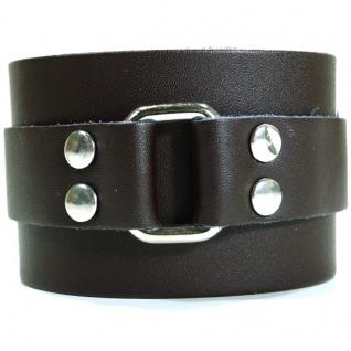 CJBB1905 Herren Armband Leder braun 21, 5 cm