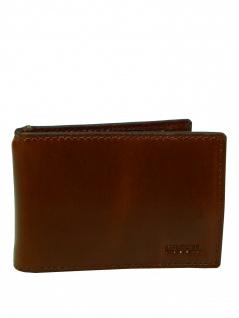 Fossil Herren Geldbörse HUGH Money Clip Bifold Leder Braun ML3989-222