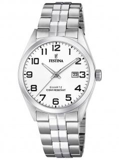 Festina F20437/1 Uhr Herrenuhr Edelstahl Datum silber