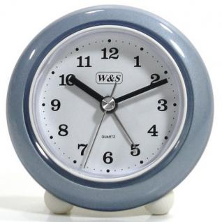 W&S 200100 Wecker Uhr blau-grau-weiß Analog Alarm