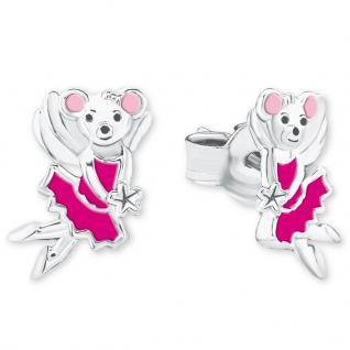 Prinzessin Lillifee 2017988 Mädchen Ohrstecker Maus Silber Pink