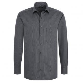 Eterna Herrenhemd Langarm XL/44 Comfort Fit Schwarz 4610/38/E187