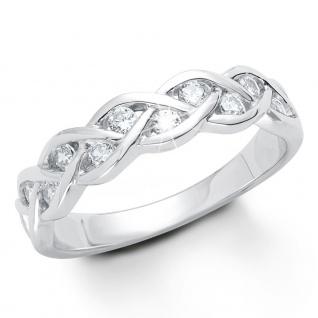 s.Oliver 9079490 Damen Ring Sterling-Silber 925 Silber Weiß 54 (17.2)