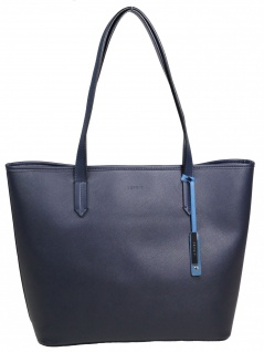 Esprit Damen Handtasche Tasche Henkeltasche Farah shopper Blau